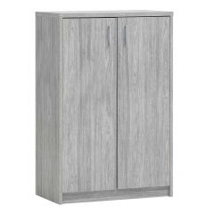 Commode Spacio 2 portes H 110cm - chêne gris