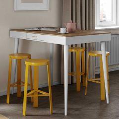 Table de bar Horizon - chêne/blanc