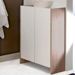 Armoire salle de bains Biarritz - blanc/chêne