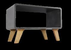 Table basse Cube - aspect béton gris
