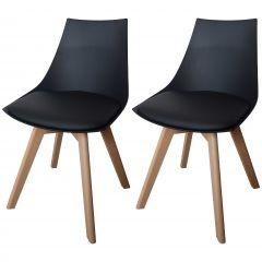 Jeu de 2 chaises Cosmo - noir