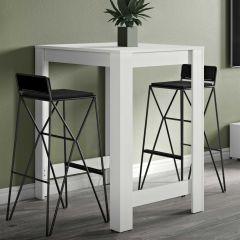 Table de bar Parnal 80x70 - blanc