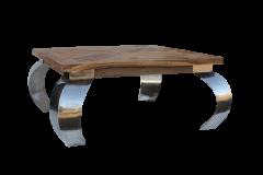Table basse Opium - 80x80 cm - naturel - teck