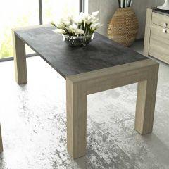Table à manger Iris - gris béton