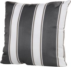 Coussin 50x50 - rayures grises/blanches