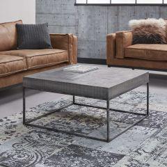 Table de salon 80x80 grado - Massif mango antique gris