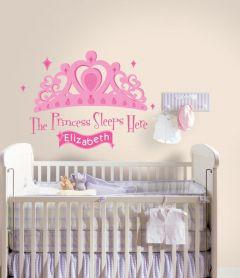 RoomMates stickers muraux - Princess sleeps here