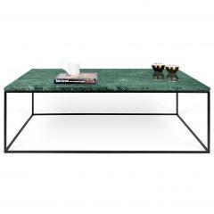 Table basse Gleam 120x75 - marbre vert/acier