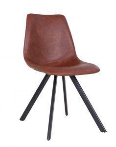 Lot de 2 chaises Emmy - brun foncé