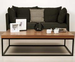 Table basse Pride - noyer/pieds noirs