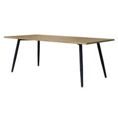 Table à manger Pyrus 160cm - brun/noir