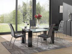 Table à manger Eline 160x80 - noir brillant