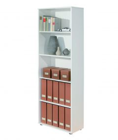 Bibliothèque Parini 5 compartiments - blanc