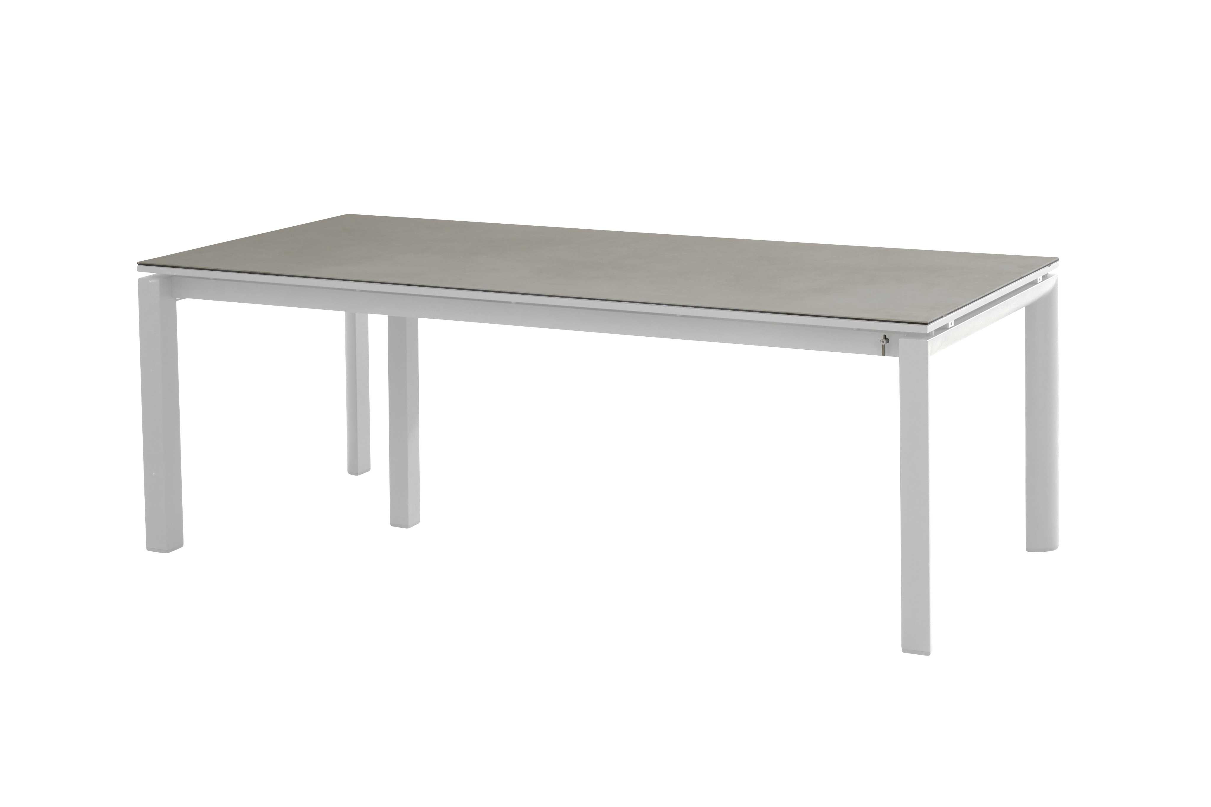 Table de jardin extensible Señor - blanc