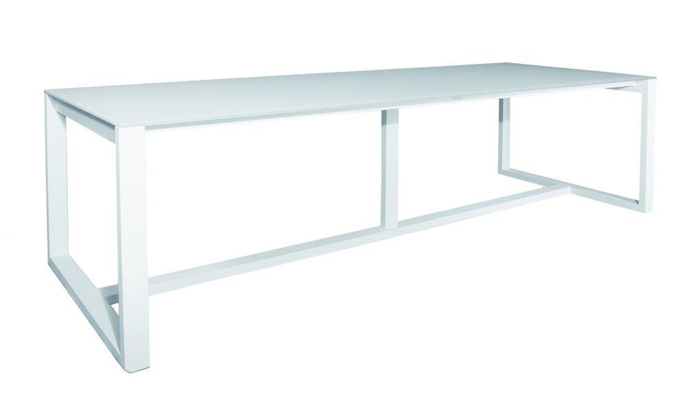 Table de jardin Queensland rectangulaire - blanc