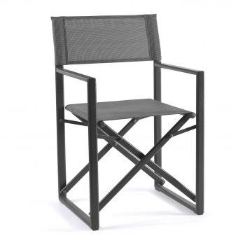 Chaise de jardin Hollywood - anthracite/gris argenté