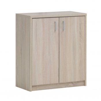 Commode Spacio 2 portes H 84cm - chêne sonoma