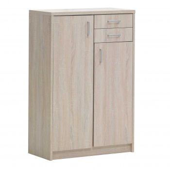 Commode Spacio 2 portes & 2 tiroirs H 110cm - chêne sonoma