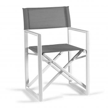 Chaise de jardin Hollywood - blanc/gris clair
