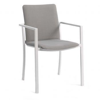 Chaise de jardin Fiston - blanc/gris clair
