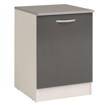 Meuble bas Oke 60 cm avec porte - gris