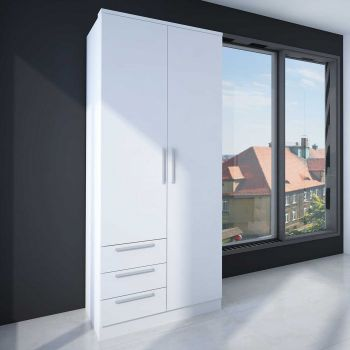 Armoire Ramos 2 portes & 3 tiroirs - blanc