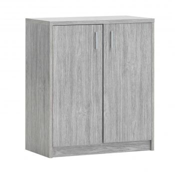 Commode Spacio 2 portes H 84cm - chêne gris