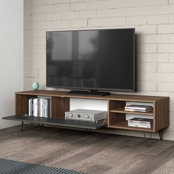 Meuble TV Jiro - noyer/anthracite