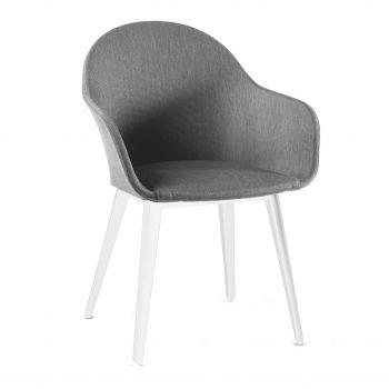 Chaise de jardin Kaare - blanc/gris clair