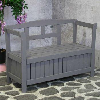 Banc de jardin avec rangement Walt - gris