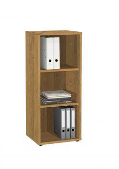 Bibliothèque Gabi étroite à 3 niches - chêne vieilli