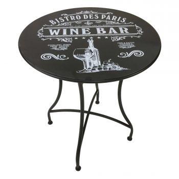 Table de jardin Bistro - noir