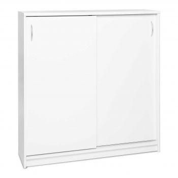 Armoire d'appoint Kiel 2 portes coulissantes L109 cm - blanc