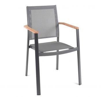 Chaise de jardin Billie - anthracite/gris foncé