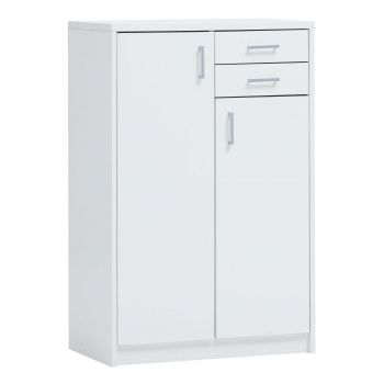 Commode Spacio 2 portes & 2 tiroirs H 110cm - blanc