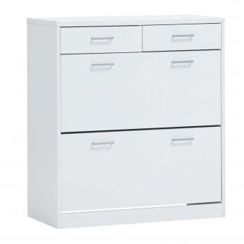 Armoire à chaussures Spacio 2 grands & 2 petits tiroirs - blanc