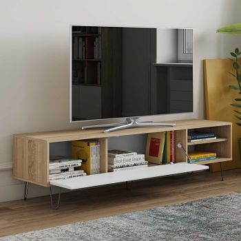 Meuble TV Jiro - chêne/blanc