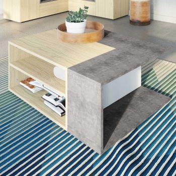 Table basse Cleo - béton/chêne