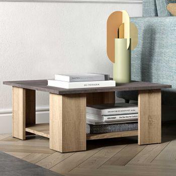 Table basse Square 67x67 - chêne/béton