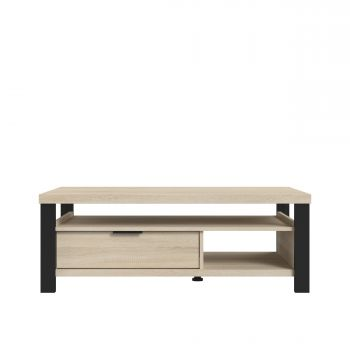 Table basse Maxwell - chêne/noir