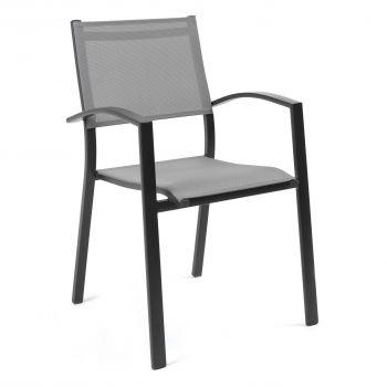 Chaise de jardin Yolande - anthracite
