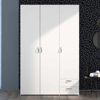 Armoire de rangement Salvador 3 portes & 2 tiroirs - blanc