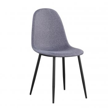 Lot de 4 chaises en tissu Valeska
