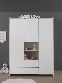 Armoire 3 portes Kiddy - blanc