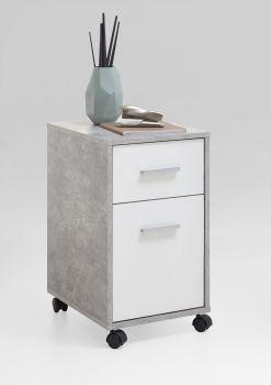 Caisson à tiroirs Sneek - béton/blanc