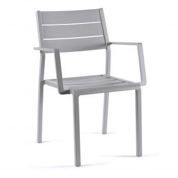 Chaise de jardin Gabbana - gris argenté
