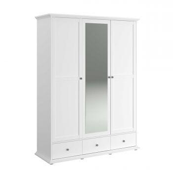 Armoire Morgane 3 portes - blanc