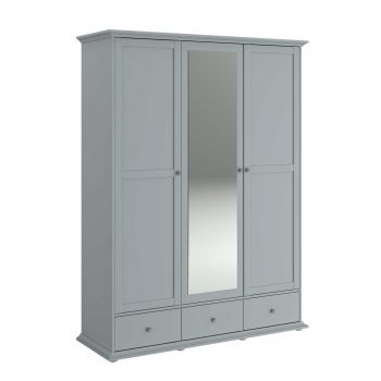 Armoire Morgane 3 portes - gris