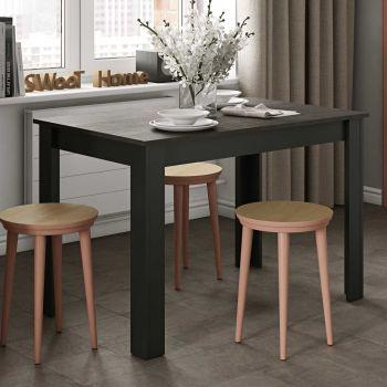 Table à manger Nice - noir/béton