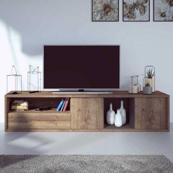 Meuble tv Frame 217cm - chêne foncé